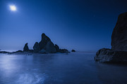 Moonlit Night Photos - Moonlight Blue by Gene Garnace