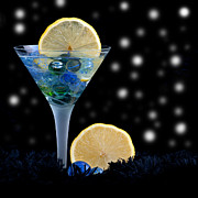 Sweet Touch Prints - Moonlight dark star cocktail lemon flavoured 1 Print by Pedro Cardona