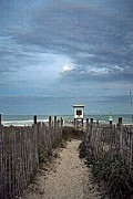 Sea Moon Full Moon Photo Posters - Moonlight Drama on the Beach Poster by Amy Lucid