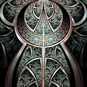 Metalwork Prints - Moonlight Gates Print by Anastasiya Malakhova