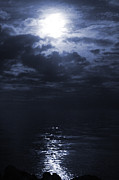 Moonglow Posters - Moonlight Glow Poster by Ken Reardon