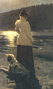 Moonlight Prints - Moonlight Print by Ilya Repin