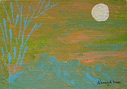 Make Believe Painting Posters - Moonlight in the Wild Poster by Nancy Pace