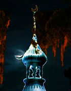 Moorish Digital Art - Moonlight Minaret by David Lee Thompson
