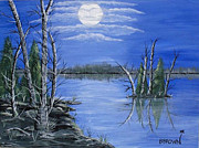 Brenda Brown Framed Prints - Moonlight Mist Framed Print by Brenda Brown