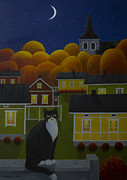 Fall Paintings - Moonlight night by Veikko Suikkanen