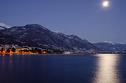 Sea Moon Full Moon Photo Posters - Moonlight over a lake Poster by Mats Silvan