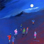 Moonlit Night Prints - Moonlight Ramble Print by Neil McBride