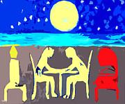 Moonlight Romance Print by Patrick J Murphy