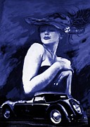 Old Cars Mixed Media - Moonlight Seduction by Cheryl Andrews