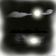 Creepy Digital Art Metal Prints - Moonlight Metal Print by Shanna Hare