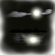 Moonlight Print by Shanna Hare