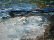 Shores Painting Originals - Moonlight Shores by Edward Wolverton