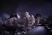 Sedona Arizona Prints - Moonlight Trail Print by Sean Foster