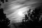 Todd A Blanchard Art - Moonlit Clouds by Todd A Blanchard