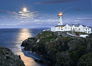 Moonlit Night Photos - Moonlit Fanad by Derek Smyth