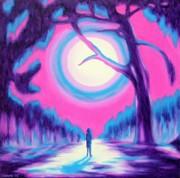 Moonlit Forest Print by Casoni Ibolya