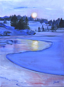 The Heavens Paintings - Moonlit by Jane Autry