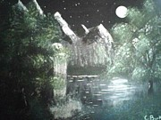 Christy Burkett - Moonlit Waterfall