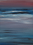 Ebb Painting Posters - Moonlit Waves At Dusk Poster by Jani Freimann