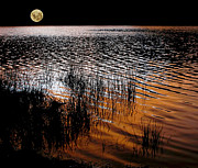 Moonrise After Sunset Print by Kaye Menner