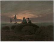 Moonrise At The Sea Print by Caspar David Friedrich