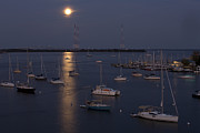 Hunters Moon Prints - Moonrise in Annapolis Print by Mark Milar