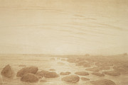 Moonrise On The Sea Print by Caspar David Friedrich