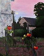 Linda Queally Metal Prints - Moonrise Over Frontenay Metal Print by Linda Queally