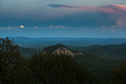 Dramatic Photos - Moonrise Over Looking Glass Rock by Bruce Siulinski