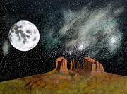 John Lyes - Moonrise Over Sedona