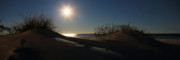 Outer Banks Photos - Moonrise Over the Dunes by JC Findley