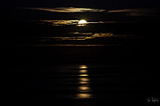 Ocean Art - Moonrise over Water by Gene Tewksbury