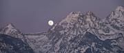 Sandra Bronstein - Moonset on the Grand Tetons