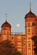 Harvest Photographs Photos - Moonset over Cambridge by Juergen Roth