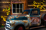 Antique Automobiles Posters - Moonshine Express Poster by Debra and Dave Vanderlaan