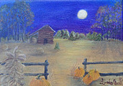 Pumpkins Paintings - Moonshine by Linda Clark