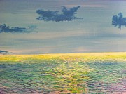 Moonshine Paintings - Moonshine Over The South Pacific by Peter Debelius