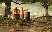 Moonshine Digital Art Framed Prints - Moonshine Still 1 Framed Print by Daniel Eskridge