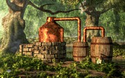 Bootlegging Framed Prints - Moonshine Still 2 Framed Print by Daniel Eskridge