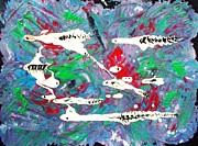 Abstract Expressionist Art - Moonwort and Rattlesnakes by Pg Reproductions