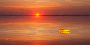 Buzzards Prints - Moored At Sunset Print by Michael Petrizzo