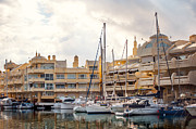 Sailing Vessel Photos - Moored Yachts III. For Yachts Lovers. Benalmadena Puerto Marina by Jenny Rainbow