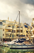 Quality Framed Prints - Moored Yachts V. For Yachts Lovers. Benalmadena Puerto Marina Framed Print by Jenny Rainbow