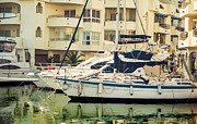 Quality Framed Prints - Moored Yachts VI. For Yachts Lovers. Benalmadena Puerto Marina Framed Print by Jenny Rainbow