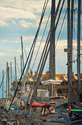 Yacht Photos - Moored Yachts VII. For Yachts Lovers. Benalmadena Puerto Marina by Jenny Rainbow