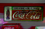 Coca-cola Sign Mixed Media - Mooresville Alabama by Charles Shoup