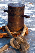 Gills Rock Prints - Mooring Rope and Chain Print by Jon Reddin Photography