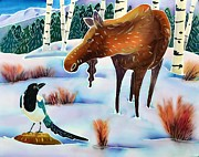 Magpie Paintings - Moose and Mappie by Harriet Peck Taylor