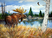 Alvin Hepler - Moose at Waters Edge